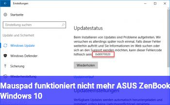 Mauspad funktioniert nicht mehr ASUS ZenBook Windows 10