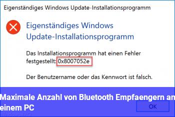 Maximale Anzahl von Bluetooth Empfängern an einem PC