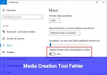 Media Creation Tool Fehler