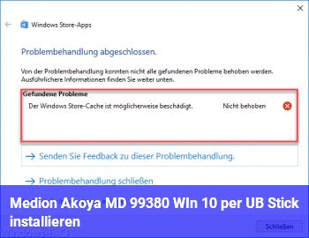 Medion Akoya MD 99380 WIn 10 per UB Stick installieren?