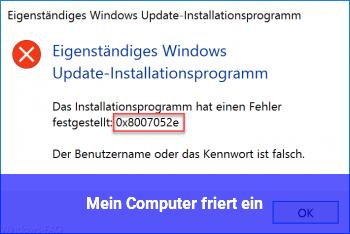 Mein Computer friert ein