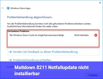 Meltdown – Notfallupdate nicht installierbar