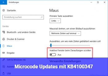 Microcode Updates mit KB4100347