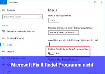 Microsoft Fix It findet Programm nicht