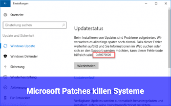 Microsoft Patches killen Systeme