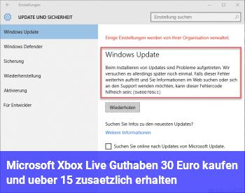 Microsoft Xbox Live Guthaben – 30 Euro kaufen und über 15% zusätzlich erhalten