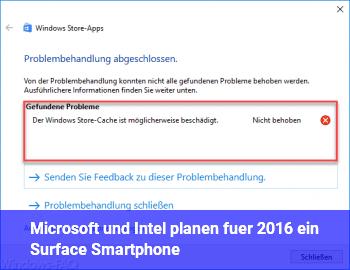 Microsoft und Intel planen für 2016 ein Surface Smartphone?