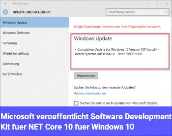 Microsoft veröffentlicht Software Development Kit für .NET Core 1.0 für Windows 10