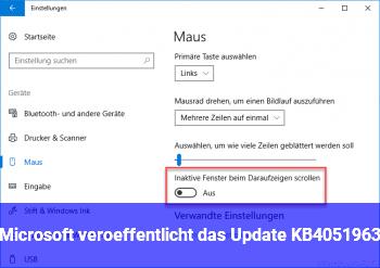 Microsoft veröffentlicht das Update KB4051963