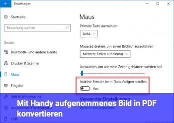 Mit Handy aufgenommenes Bild in PDF konvertieren