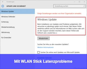 Mit WLAN Stick Latenzprobleme