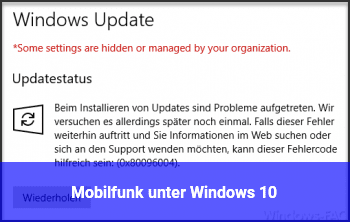 Mobilfunk unter Windows 10