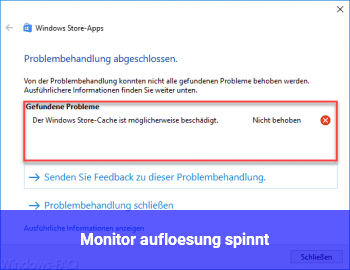 Monitor auflösung spinnt