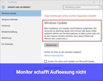 Monitor schafft Auflösung nicht?
