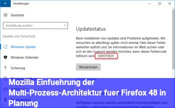 Mozilla: Einführung der Multi-Prozess-Architektur für Firefox 48 in Planung