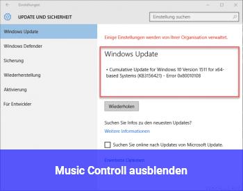 Music Controll ausblenden