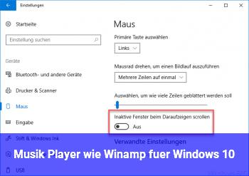 Musik Player wie Winamp für Windows 10