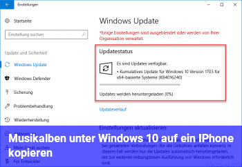 Musikalben unter Windows 10 auf ein IPhone kopieren