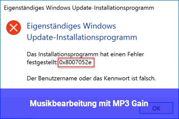 Musikbearbeitung mit MP3 Gain