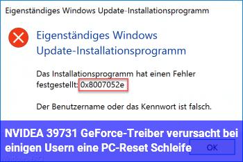 NVIDEA 397.31 GeForce-Treiber verursacht bei einigen Usern eine PC-Reset Schleife!