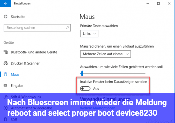 Nach Bluescreen immer wieder die Meldung reboot and select proper boot device…