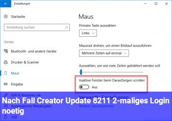 Nach Fall Creator Update – 2-maliges Login nötig