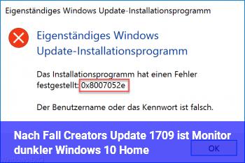 Nach Fall Creators Update (1709) ist Monitor dunkler (Windows 10 Home)