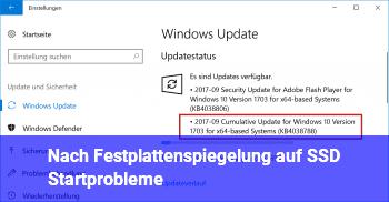 Nach Festplattenspiegelung auf SSD Startprobleme