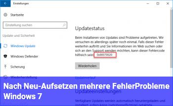 Nach Neu-Aufsetzen mehrere Fehler/Probleme Windows 7