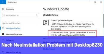 Nach Neuinstallation Problem mit Desktop…