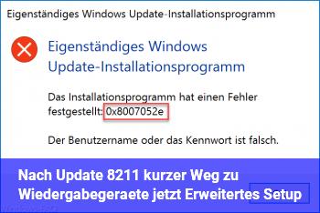 """Nach Update – kurzer Weg zu """"Wiedergabegeräte"""" (jetzt """"Erweitertes Setup"""")?"""