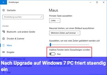 Nach Upgrade auf Windows 7: PC friert ständig ein
