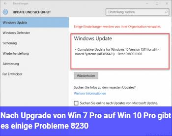 Nach Upgrade von Win 7 Pro auf Win 10 Pro gibt es einige Probleme ….