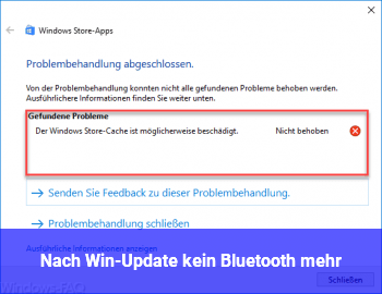 Nach Win-Update kein Bluetooth mehr