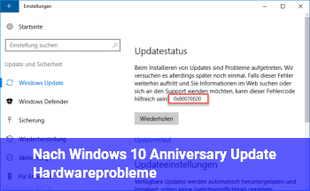 Nach Windows 10 Anniversary Update Hardwareprobleme