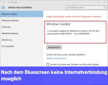 Nach dem Bluescreen keine Internetverbindung möglich !