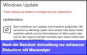 Windows 10 Schwarzer Bildschirm Mauszeiger Nach Anmeldung 2021