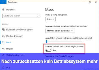 """Nach """"zurücksetzen"""" kein Betriebssystem mehr"""