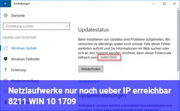 Netzlaufwerke nur noch über IP erreichbar – WIN 10 1709