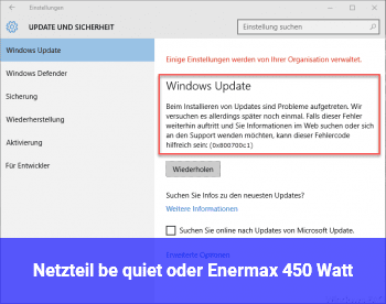 Netzteil be quiet oder Enermax 450 Watt