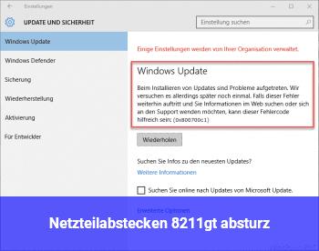 """Netzteilabstecken –> """"absturz"""""""