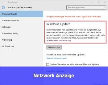 Netzwerk Anzeige