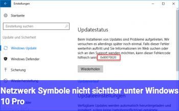 Netzwerk Symbole nicht sichtbar unter Windows 10 Pro