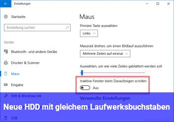 Neue HDD mit gleichem Laufwerksbuchstaben?
