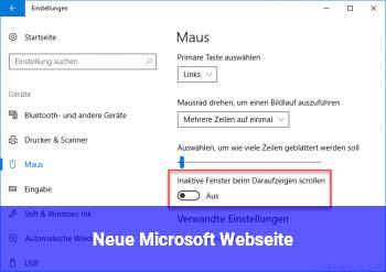 Neue Microsoft Webseite