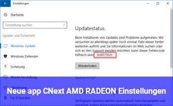 Neue app CNext (AMD RADEON Einstellungen)