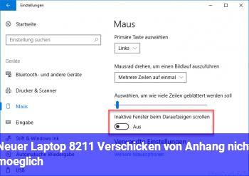 Neuer Laptop – Verschicken von Anhang nicht möglich