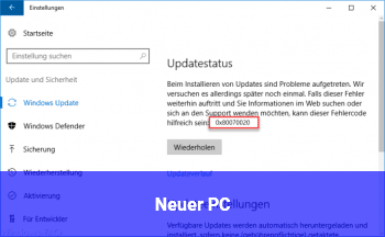 Neuer PC
