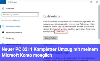 Neuer PC – Kompletter Umzug mit meinem Micrsoft Konto möglich?