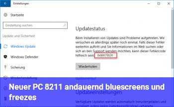 Neuer PC – andauernd bluescreens und freezes